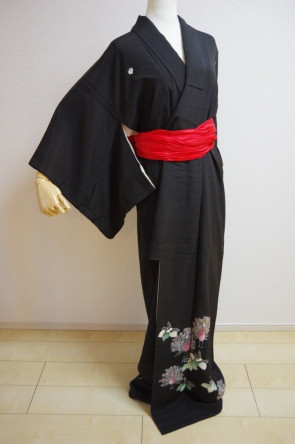 KIMONO DRESS JAPAN VINTAGE TRADITIONAL JAPANESE COSTUME USED KDJM-A0405