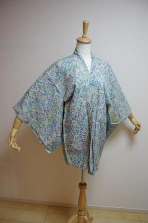 Kimono Dress Japan Vintage haori coat Japanese costume used silk KDJM-H0769
