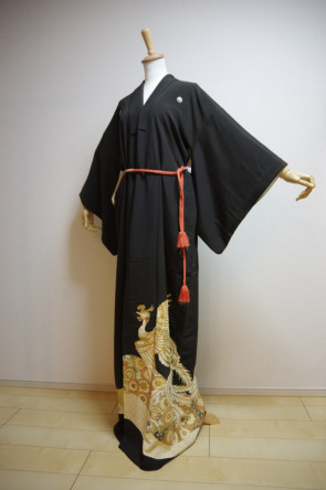 KIMONO DRESS JAPAN VINTAGE TRADITIONAL JAPANESE COSTUME USED KDJM-A0434